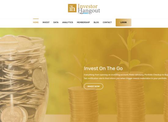 Investor Hangout Website - Web Development
