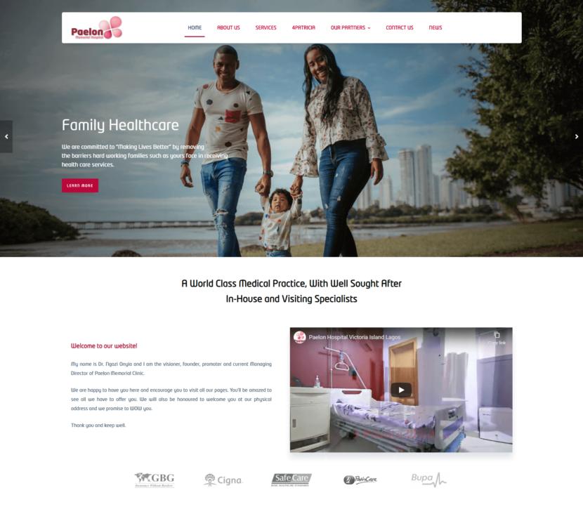 Paelon Memorial Hospital Website - Web Development